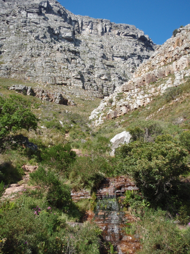 Pardoes South Africa 2010 Photo Pages Plasttekpp Platteklip Gorge Our Route Up Table Mountain Led By Local Guide Riaan